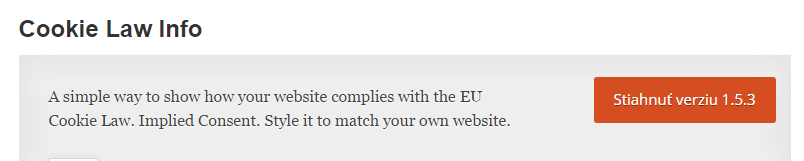 """Cookie Law info je plugin vďaka ktorému vyhoviete """"koláčikovému zákonu"""" z dielne Európskej únie."""