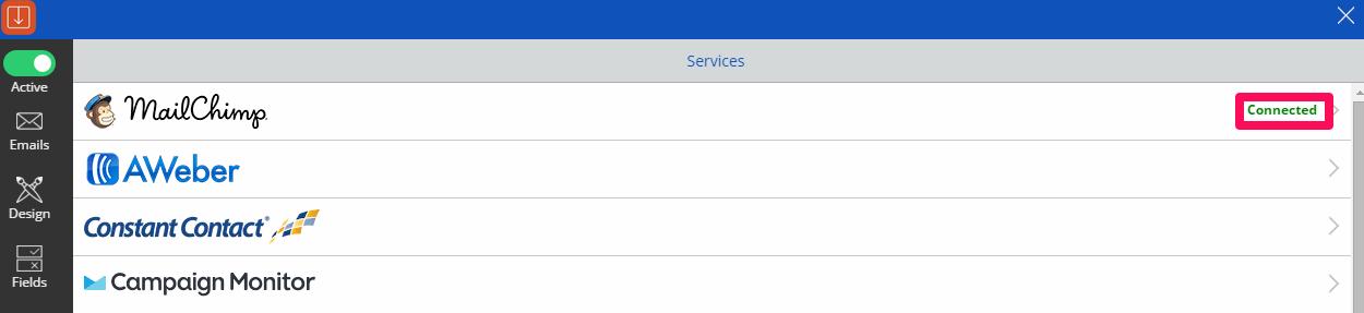 Prepojenie pluginu Scroll Box s MailChimpom