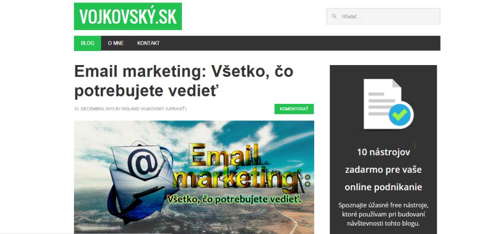 Blog o internetovom marketingu - Vojkovský.sk