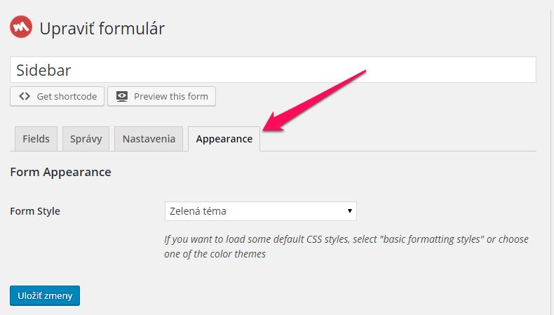 Ako zmeniť farbu formulára v MailChimpe