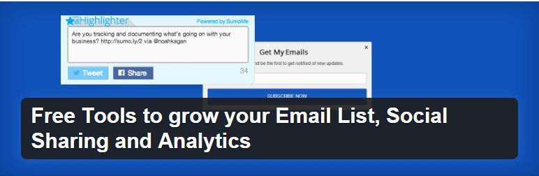 Získajte viac email odberateľov a zdieľaní vďaka modulu SumoMe.