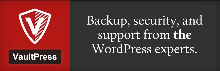 Vaultpress je plugin, ktorý sa postará o zálohovanie vašej stránky a databázy.