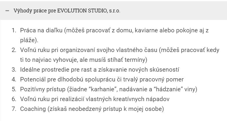 Zoznam výhod spolupráce s Ľubom Juríkom