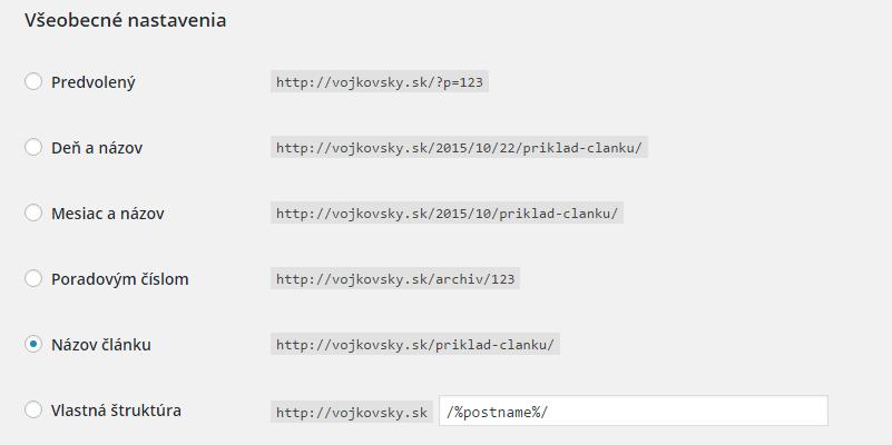 Ako správne nastaviť trvalé odkazy v systéme WordPress
