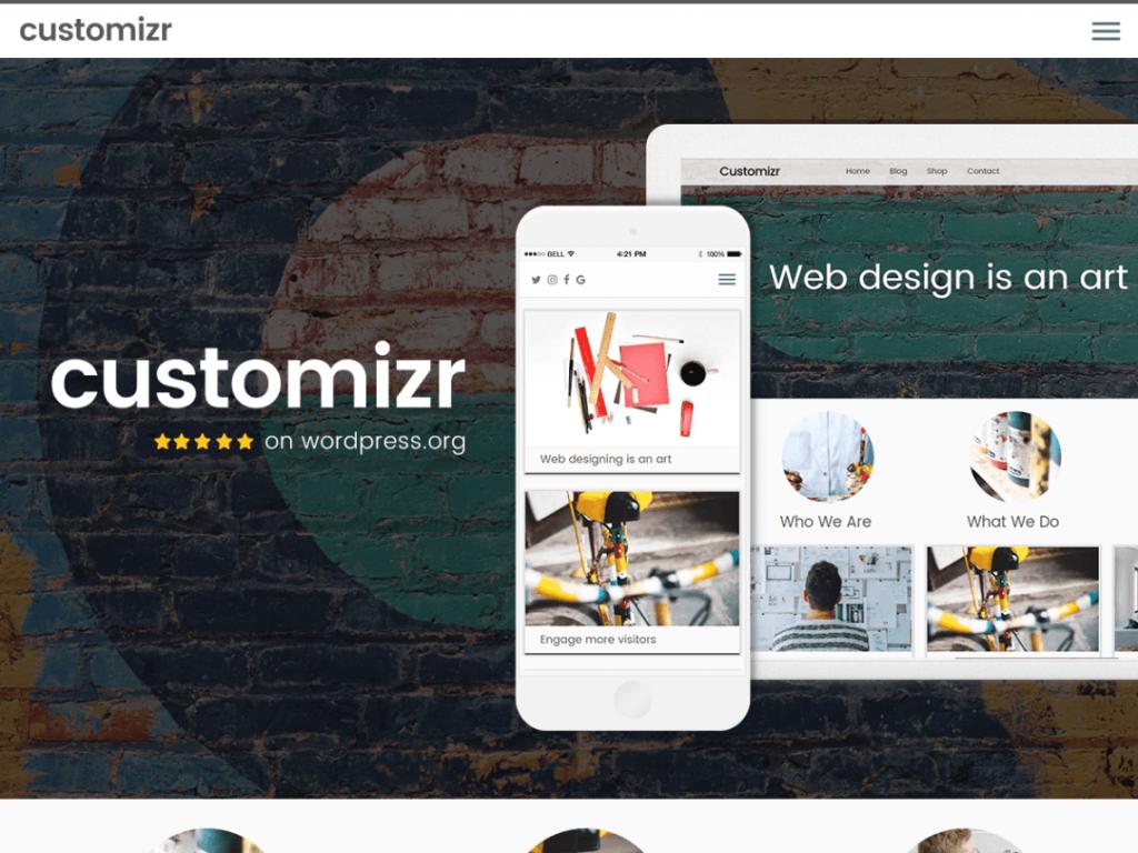 Customizr patrí medzi najlepšie free témy pre WordPress.