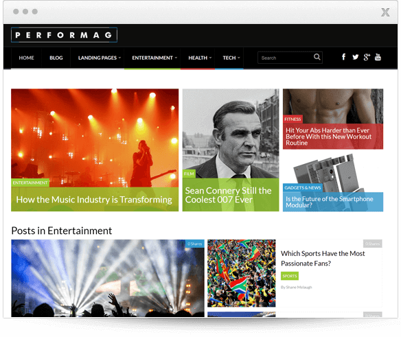 Prémiová téma Performag od Thrive Themes