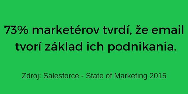 73% marketérov tvrdí, že email tvorí základ ich podnikania.