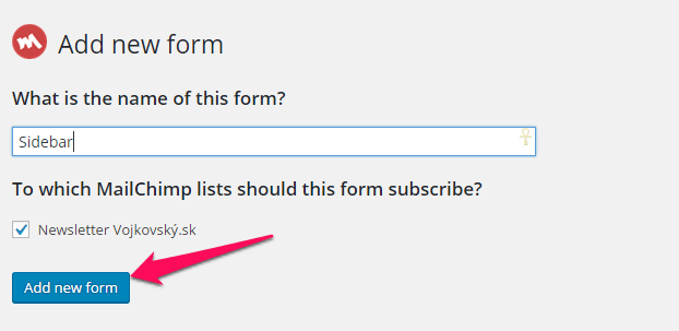 Ako vytvoriť MailChimp formulár vo WordPresse