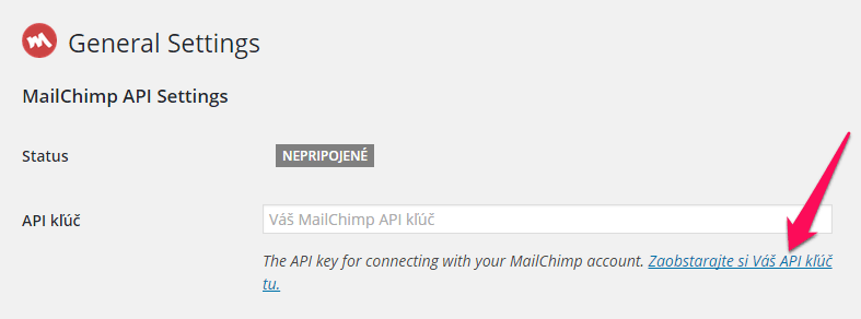 MailChimp plugin pre WordPress
