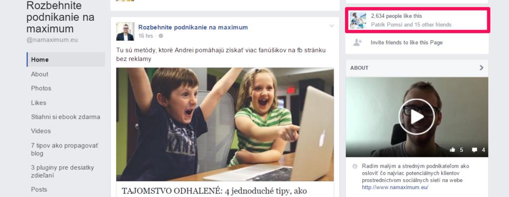 Peter Čelko má na Facebooku viac ako 2 500 fanúšikov. To je pre neho skvelý sociálny dôkaz, že ponúka kvalitný obsah a kvalitné služby.
