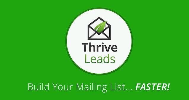 Ako vytvoriť databázu email kontaktov? Začnite používať Thrive Leads.
