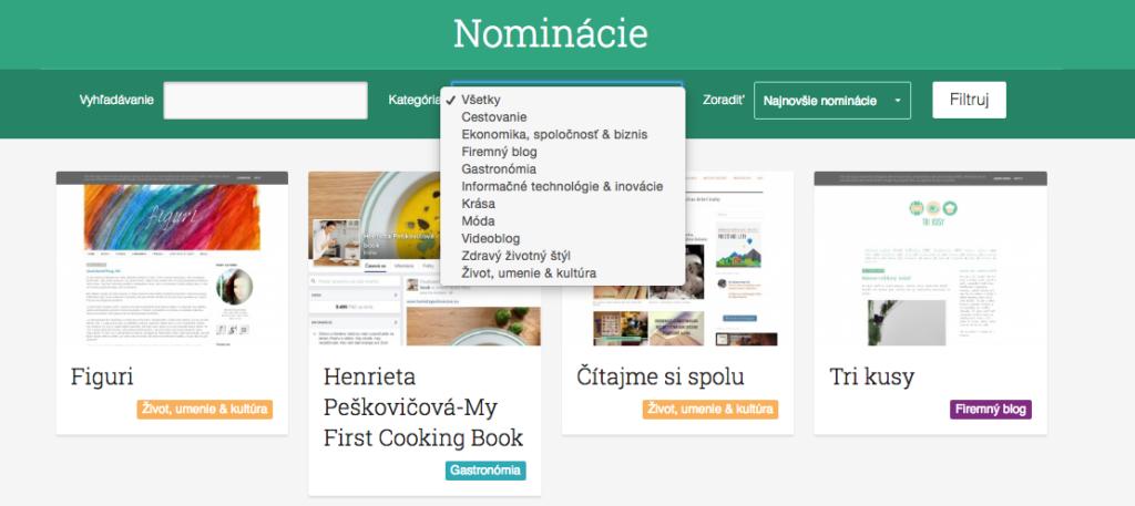 Katalóg blogerov na stránke blogerroka.sk