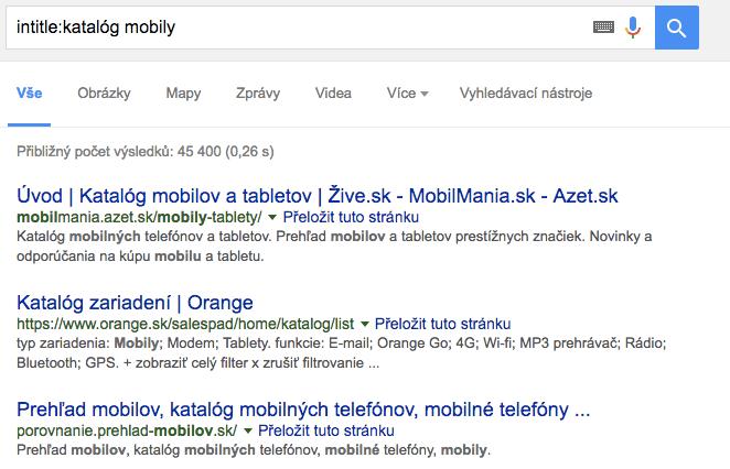 Ako používať Google parametre