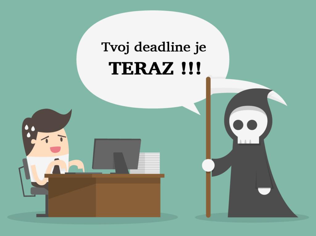 Ak si nestanovíte deadline, budete písanie odkladať donekonečna