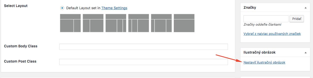 Ako nastaviť ilustračný obrázok vo WordPress