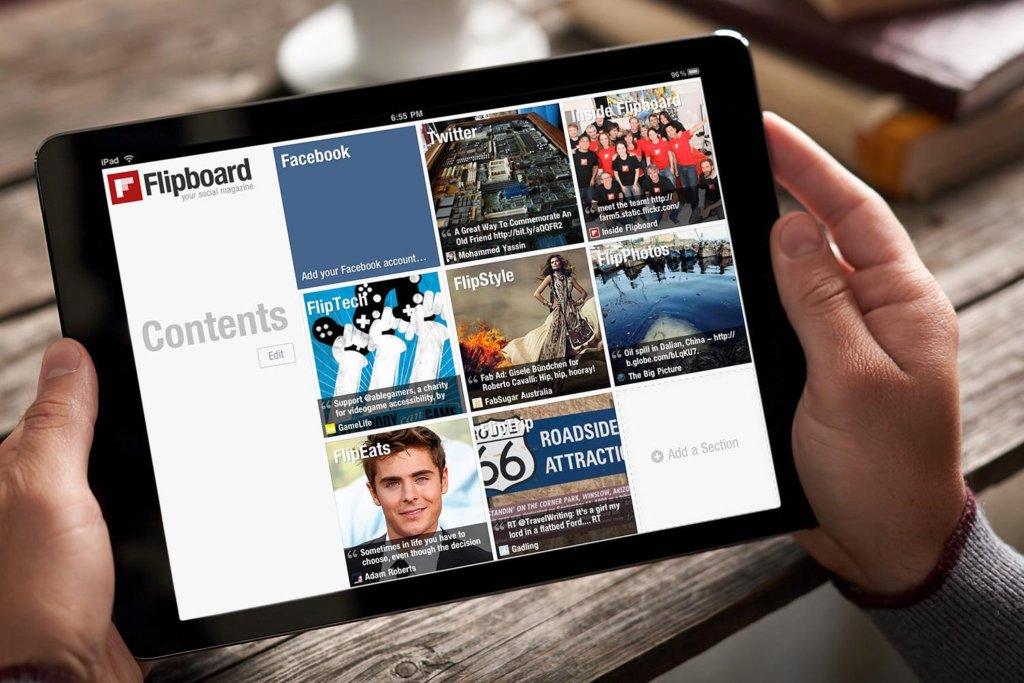 flipboard - aplikáciu, ktorá vám pomôže nájsť nápady na nové články