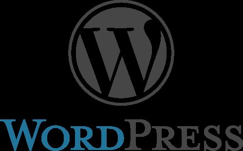 Logo WordPressu, najpoužívanejšieho systému na tvorbu webových stránok