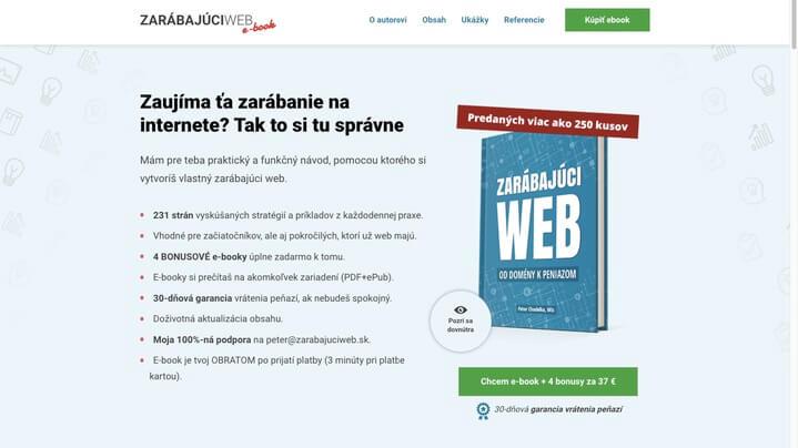 E-book Zarábajúci web od Peťa Chodelku