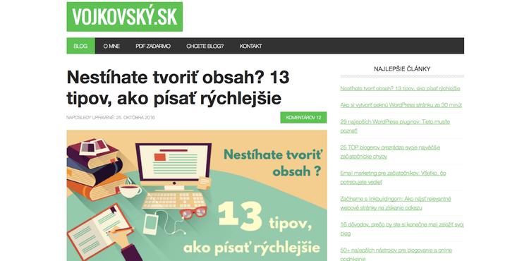 Redizajn blogu vojkovský.sk